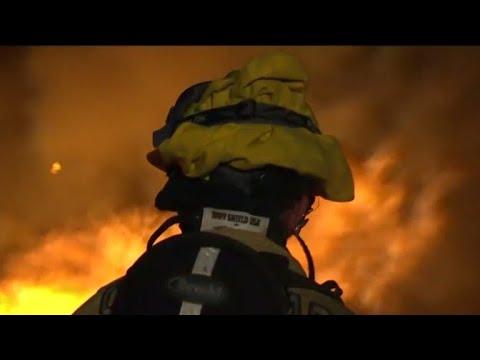 Six California wildfires spread destruction