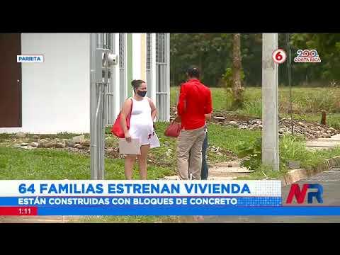 64 familias estrenan vivienda en Parrita