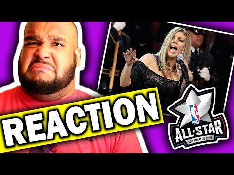 connectYoutube - Fergie Performs The National Anthem | 2018 NBA All-Star Game [REACTION]