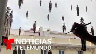 Disfrute aquí del arte de un pintor español que busca aliviar el confinamiento | Telemundo