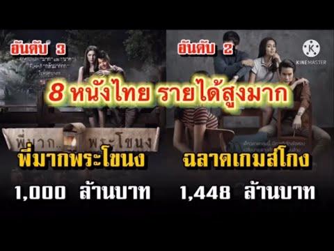 8หนังไทยรายได้สูงมาก