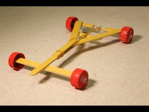 Stylish Powerful Rubber Band Car - Homemade Projects For Kids