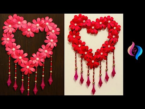 DIY Paper Craft - Paper Heart Design Valentine's Day and Room Decor Ideas - Easy Valentine's Crafts