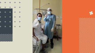 Ex pacientes COVID regresan a hospitales para agradecer a funcionarios