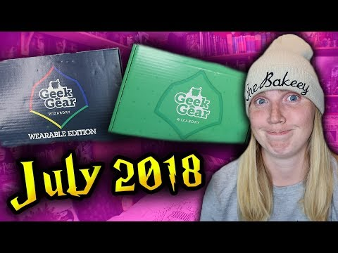 HARRY POTTER - GEEKGEAR WIZARDRY & WEARABLE UNBOXING - July 2018