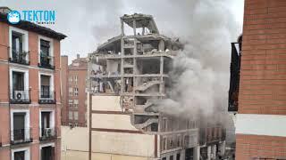 EXPLOSIÓN EN MADRID: Letrero de la Virgen permanece intacto en medio de la destrucción