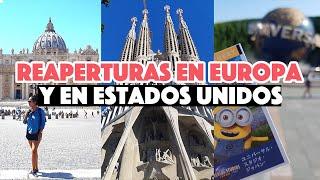 España tiene fecha para viajes, Universal Studios reabren