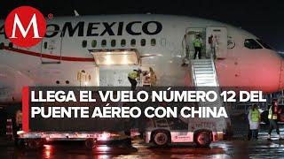 Llega a México doceavo vuelo desde China con insumos para coronavirus