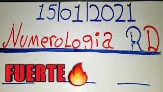 NÚMEROS  PARA HOY 15/01/21 DE ENERO..! NUMEROLOGIA RD