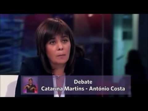 Catarina Martins em debate com António Costa