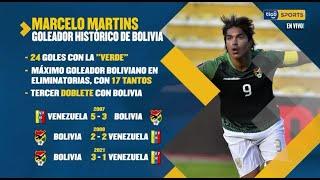 Estos son los datos de Marcelo Martins, goleador histórico de Bolivia.