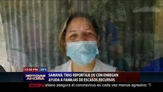 Continúan ayudas a personas de escasos recursos en Samaná tras reportaje de CDN