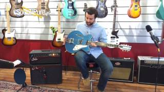 Duesenberg Fullerton Elite Catalina Blue Semi-Hollow #150919 Quick n' Dirty