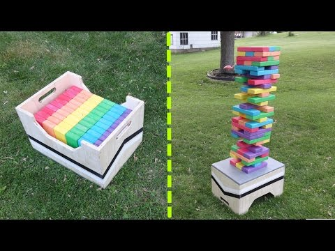 Great Download Youtube To Mp Diy Giant Jenga Game Table Storage Box With  Diy Giant Jenga