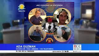 Ada Guzman vocera Dr. Cruz Jiminian, ofrece informaciones sobre estado de salud de Dr. Cruz Jiminian