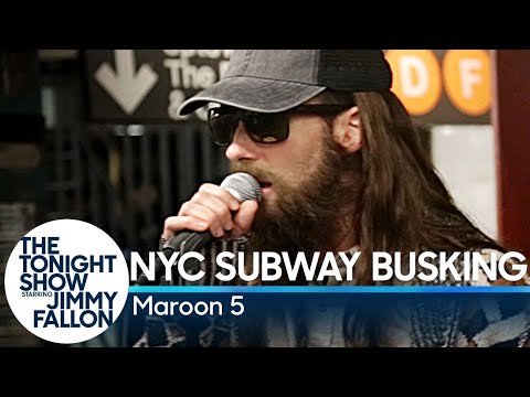 connectYoutube - Maroon 5 Busks in NYC Subway in Disguise