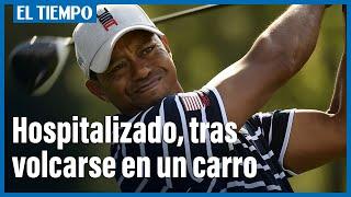 Tiger Woods se volco? en un carro, en Los A?ngeles