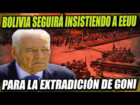 Bolivia seguirá insistiendo a Estados Unidos con la extradición de Gonzalo Sánchez de Lozada