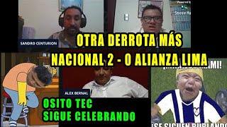 OTRA DERROTA MAS : NACIONAL 2 - 0 ALIANZA LIMA || ALIANZA LIMA SE DESPIDE DE LA LIBERTADORES