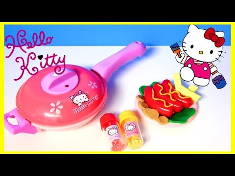 connectYoutube - Hello Kitty cooking playset & Superhero Play Doh Cartoons & Stop Motion Movies for babies