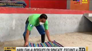 Habilitan albergues en Sipacate, Escuintla
