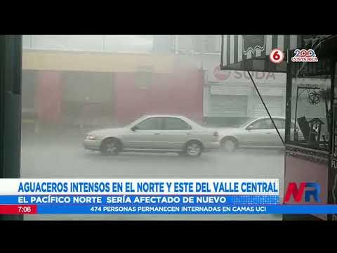 Pronostican aguaceros intensos en el norte y este del valle central