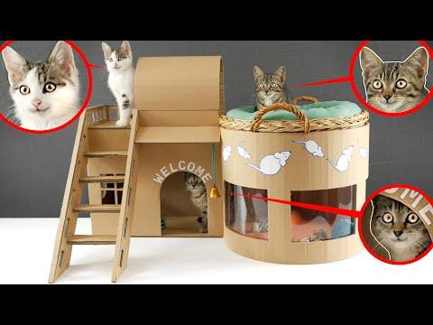 игрушечной своими руками для домик кошки