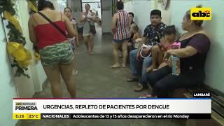 Lambaré: Urgencias, repleto de pacientes por dengue