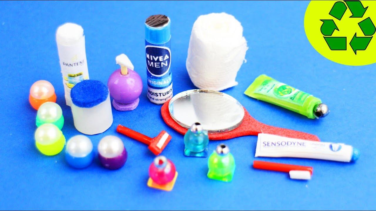 🚽🛀DIY | Doll Bathroom Miniature Stuff - 1st part - Easy Doll Crafts - simplekidscrafts