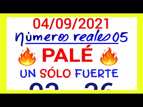 NÚMEROS PARA HOY 04/09/21 DE SEPTIEMBRE PARA TODAS LAS LOTERÍAS....!! Números reales 05 para hoy...!