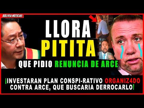 ¡HUN-DEN A PITITA VIRGILIO LEMA! QUE PIDIO LA RENUN-CIA DE LUIS ARCE. INVEST. PLAN CONSPI-R4TIVO