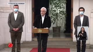Presidente Piñera adelanta pago de ingreso familiar de emergencia