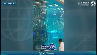 حوض الاسماك في مطار الملك عبدالعزيز الدولي بجدة