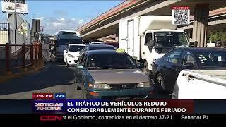El tráfico de vehículos redujo considerablemente durante feriado