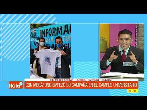 Con megafono en mano Miguel Cádima comenzó campaña en campus universitario