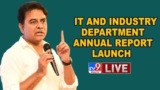KTR LIVE    The Annual Report Of IT and Industry Department - TV9 - TV9