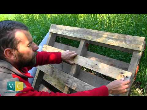 Tuto fabriquer un bac jardiner en bois de palette - Mur vegetal palette ...