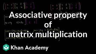 Associative property of matrix multiplication