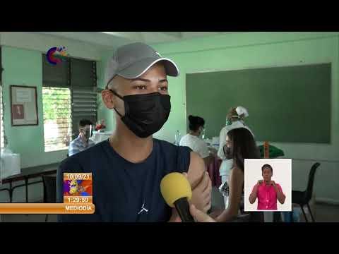 Cuba: Comienza vacunación de estudiantes de grados terminales en Sancti Spíritus