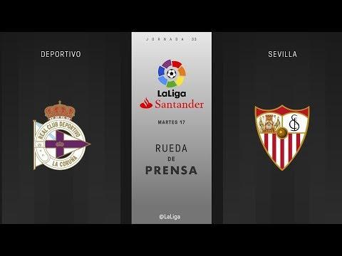 Rueda de prensa Deportivo vs Sevilla