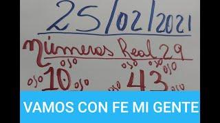 NUMEROS PARA HOY 25/02/2021 DE FEBRERO PARA TODAS LAS LOTERIAS!!!