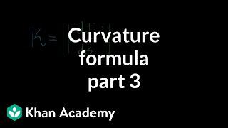 Curvature formula, part 3
