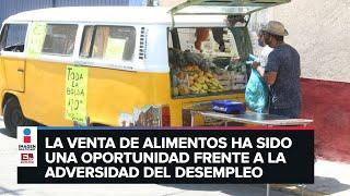 Joven en la CDMX vende fruta y verdura a domicilio en su combi