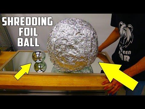 connectYoutube - Shredding Giant Mirror Polished Japanese Aluminium Foil Ball