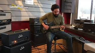 Luxxtone Calavera Black Dog Hair Burst Electric Guitar #236 Quick 'n' Dirty