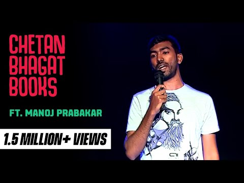 Chetan Bhagat Books- Stand-Up comedy video by Manoj Mento
