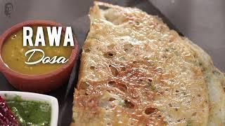 रवा डोसा    Rawa Dosa   Sanjeev Kapoor Khazana - SANJEEVKAPOORKHAZANA