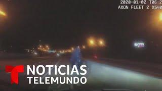 Joven se lanza al vacío en Atlanta por huir de la policía   Noticias Telemundo