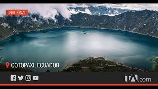 La laguna del Quilotoa es uno de los lugares más visitados del país -Teleamazonas