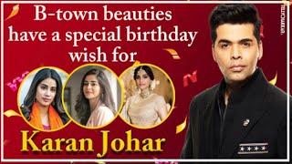 Sonam, Ananya, Jhanvi, and other B-town celebrities have a special wish for Karan Johar's birthday   - TELLYCHAKKAR